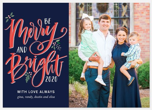 Drawn Merry Holiday Photo Cards