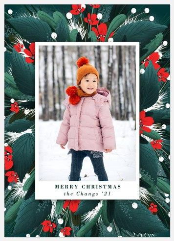 Garland Surround Holiday Photo Cards