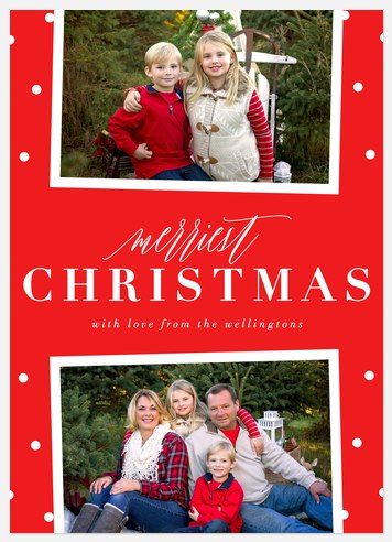 Classy Northpole Holiday Photo Cards