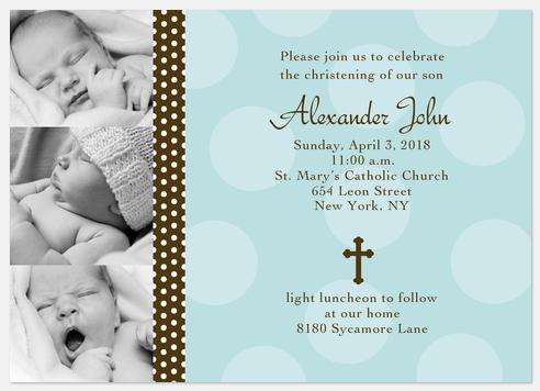 Baptism Invitations - Alexander