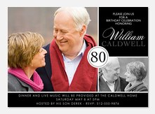 Adult Birthday Invitations - 80th Birthday Invitations