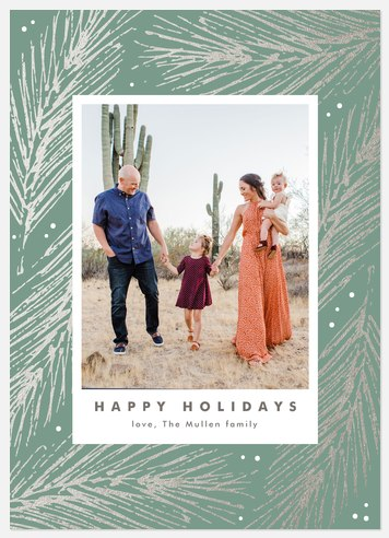 Silver Spruce Holiday Photo Cards