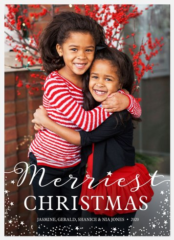 Sprinkled Stardust Holiday Photo Cards