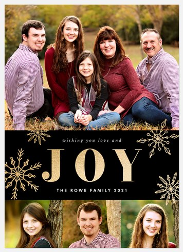 Crafted Snowflakes Holiday Photo Cards