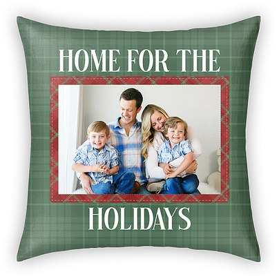Home for the Holidays Custom Pillows