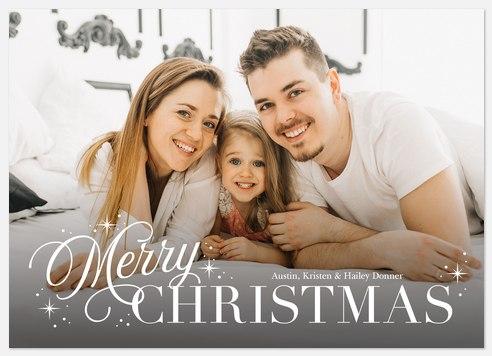 Elegant Sparkles Holiday Photo Cards
