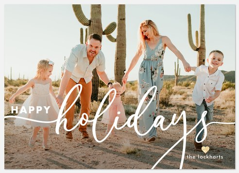 Jolly Script Holiday Photo Cards