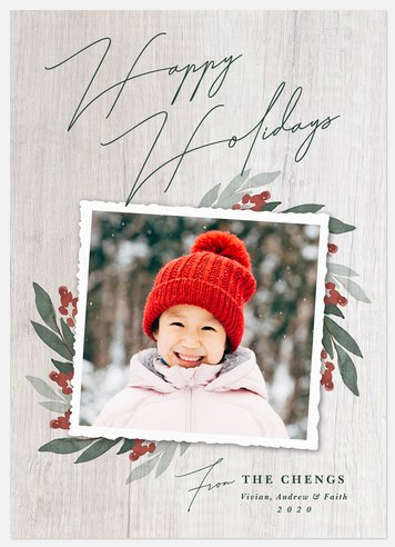Barnwood Branches Holiday Photo Cards