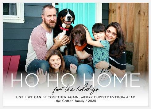 Ho Ho Home Holiday Photo Cards