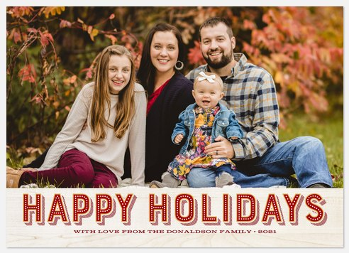 Lighted Greetings Holiday Photo Cards