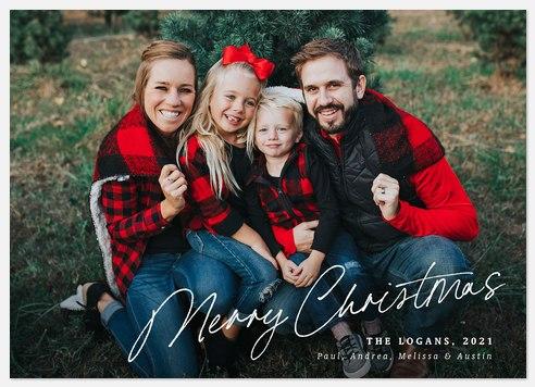 Winter Scrawl Holiday Photo Cards
