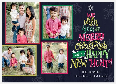 Colorful & Bright Holiday Photo Cards