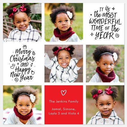 Whimsy Squares Holiday Photo Cards