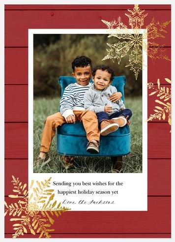 Farmhouse Flurries Holiday Photo Cards