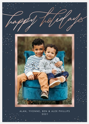 Luxe Style Holiday Photo Cards