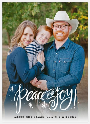 Cheerful Frost Holiday Photo Cards