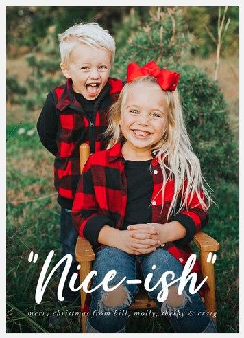 Nice-ish Holiday Photo Cards