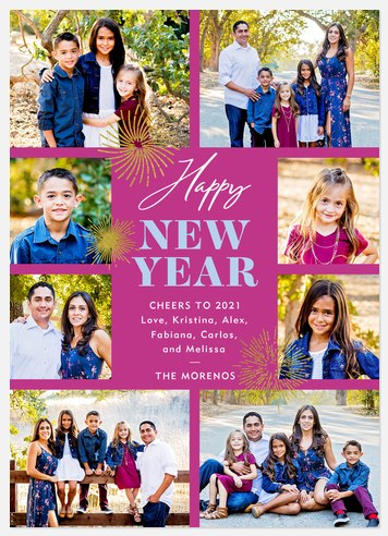 Fireworks Holiday Photo Cards