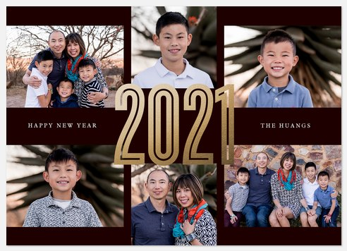 Big Year Holiday Photo Cards