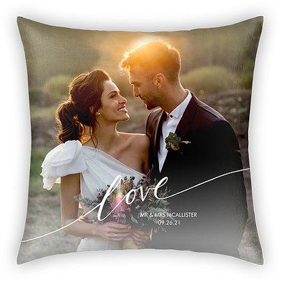 Love Script Custom Pillows