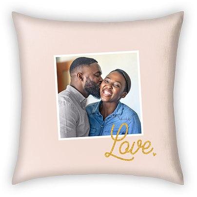 Glittering Love Custom Pillows
