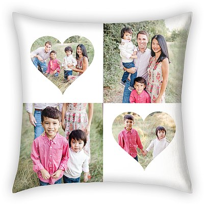 Heart Collage Custom Pillows