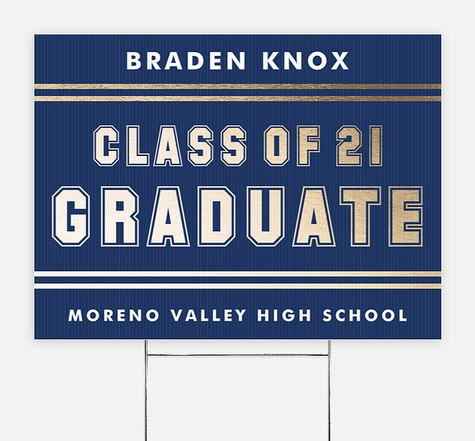 Team Player Graduation Yard Signs