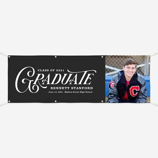 Vintage Graduate Graduation Banners