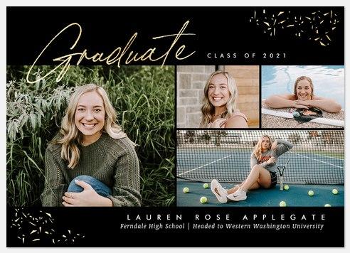 Shimmering Script Graduation Cards