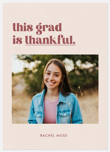Thankful Grad Thank You Cards
