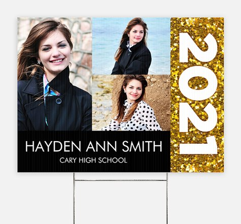 Glittering Pride Graduation Yard Signs