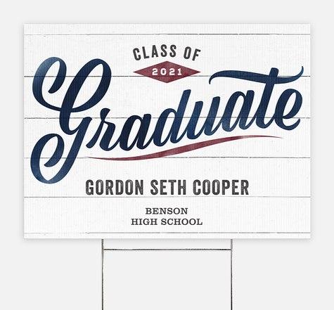 Varsity Script Graduation Yard Signs
