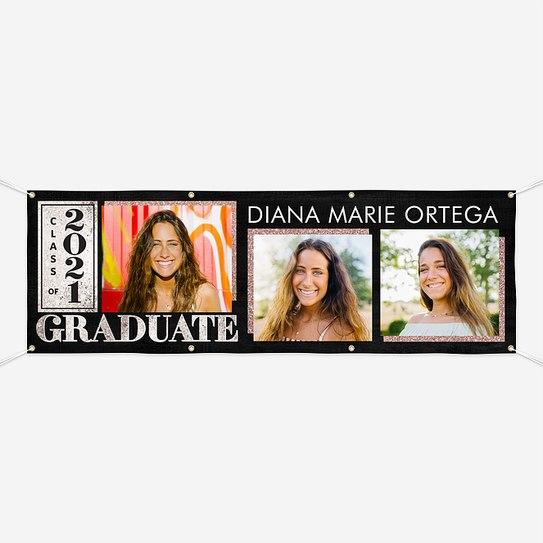Glam Sparkles Graduation Banners