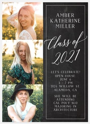 Chalkboard Celebration Graduation Cards