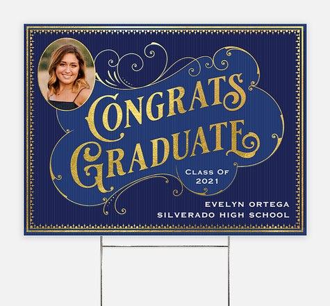 Ornate Vintage Graduation Yard Signs