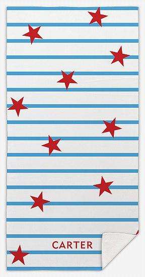 Stars and Stripes Custom Beach Towels