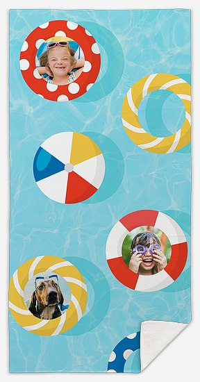 Pool Rings Custom Beach Towels