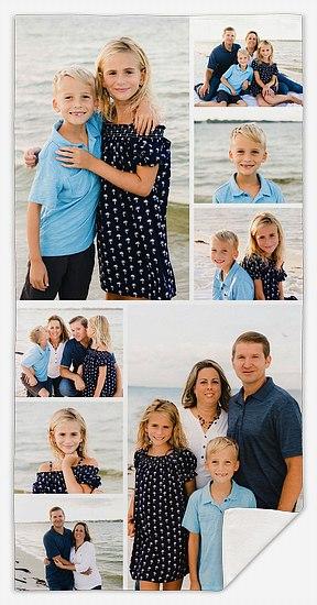 Eight-Photo Collage Custom Beach Towels
