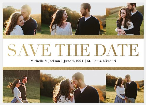 Beaming Happiness Save the Date Photo Cards