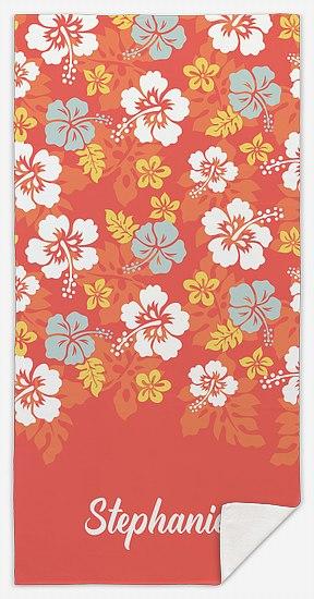 Floral Luau Custom Beach Towels