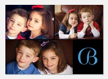 Three Frame Initial - Personalized Photo Cards