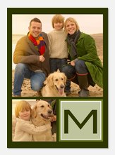 Photo Announcements - Green Frame Initial