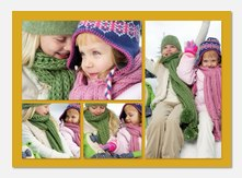 Photo Announcements - Yellow Frame 4