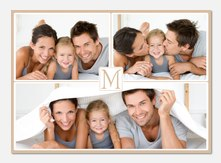 Personalized Photo Cards - Beige Border Frame