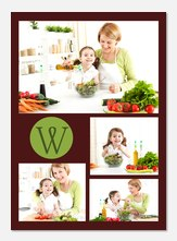 Personalized Photo Cards - Green Initial