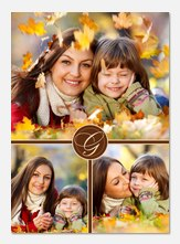 Classic Brown Initial - Personalized Photo Cards