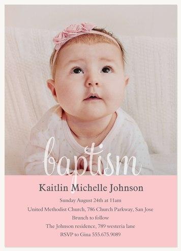 Baptisms christening invitations baptism blessing blush stopboris Images