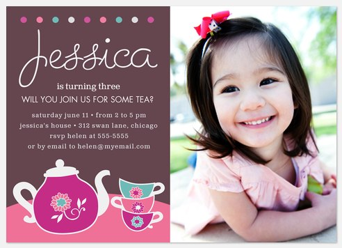 Tasty Tea Time Kids' Birthday Invitations