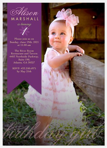 Bright Ribbon Kids' Birthday Invitations