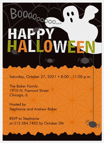 Boo's Bash Halloween Photo Cards